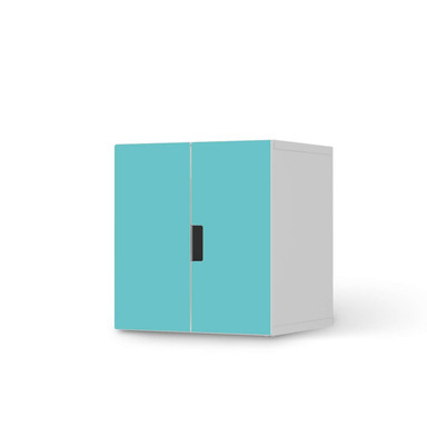 Möbelfolie IKEA Stuva / Malad Schrank - 2 kleine Türen - Türkisgrün Light