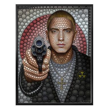 Poster Ben Heine - Circlism: Eminem