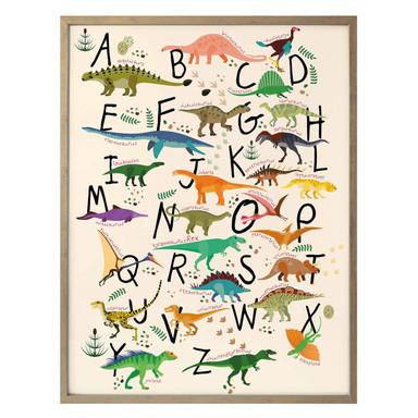 Poster - Dinosaurier Alphabet