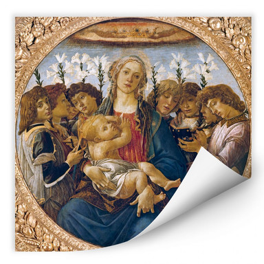 Wallprint Botticelli - Maria mit dem Kind und singenden Engeln
