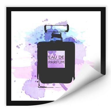 Wallprint Eau de Parfum Aquarell - Grau