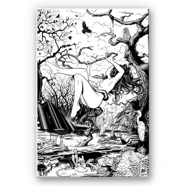 Wandbild Drawstore - Swampland