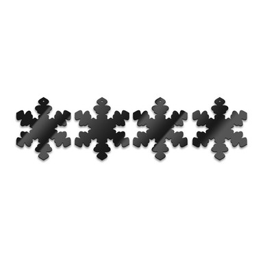 Acryldeko Baumschmuck-Schneeflocken (4-teilig)