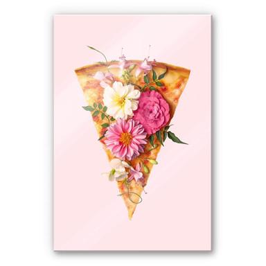 Acrylglasbild Fuentes - Pizza und Blumen