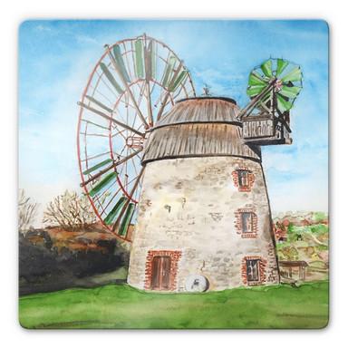 Glasbild Toetzke - Holländerwindmühle - quadratisch