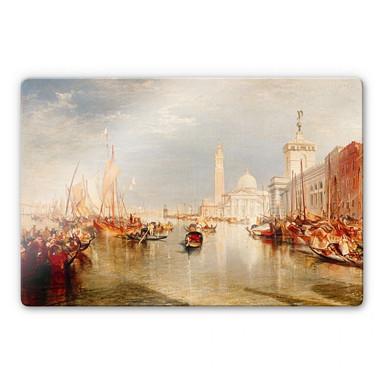 Glasbild Turner - Venedig, Dogana und S. Giorgio Maggiore