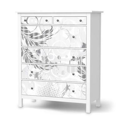 Klebefolie IKEA Hemnes Kommode 6 Schubladen - Florals Plain 2- Bild 1