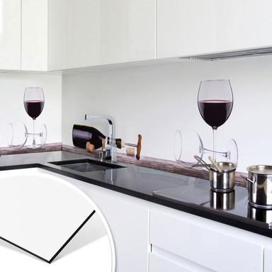 Küchenrückwand - Open a wine bottle