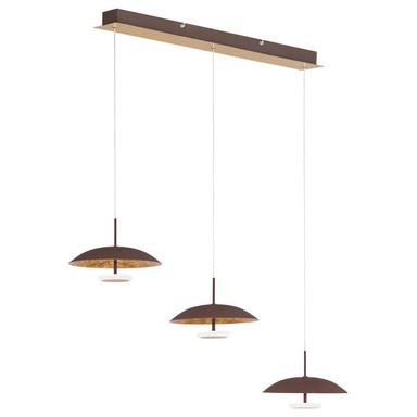 LED Pendelleuchte Pierre, gold, schwarz, halbrund, 3-flammig