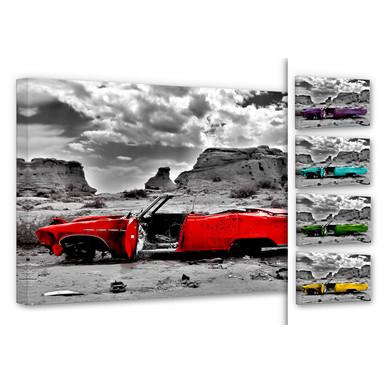 Leinwandbild Roter Cadillac - Bild 1