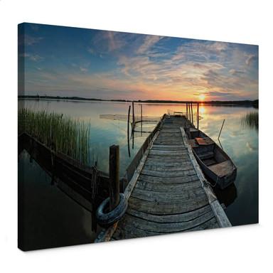 Leinwandbild Sunset at the lake