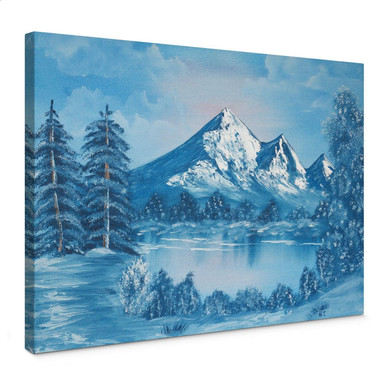 Leinwandbild Toetzke - Alpsee in den Bergen