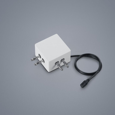 Lichtschienen 90°-Verbinder Vigo in weiss-matt mit Kabeleinspeisung