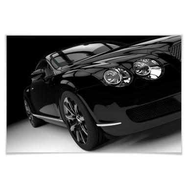 Poster Metallic Car Black 02