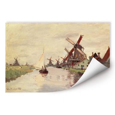 Wallprint Monet - Holländische Landschaft mit Windmühlen