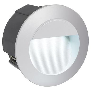 LED Aussenwandeinbauleuchte IP65 inkl. LED 125mm rund Silber