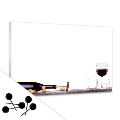 Memoboard Open a wine bottle inkl. 5 Pinnadeln