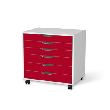 Möbelfolie IKEA Alex Rollcontainer 6 Schubladen - Rot Dark
