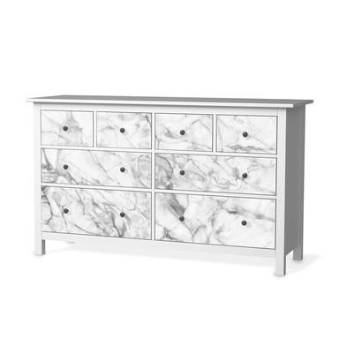 Möbelfolie IKEA Hemnes Kommode 8 Schubladen - Marmor weiss