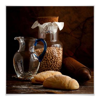 Poster Laercio - Italian Breads - quadratisch