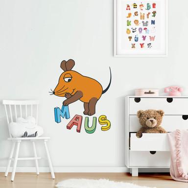 Wandsticker Die Maus Buchstaben