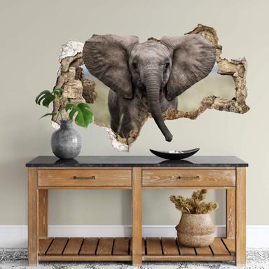 3D Wandtattoo van Duijn - Baby Elefant