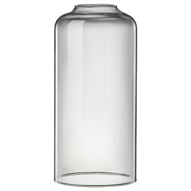 Designer Glas zur Pendelleuchte Askja, transparent, länglich, gross, by Kok & Berntsen
