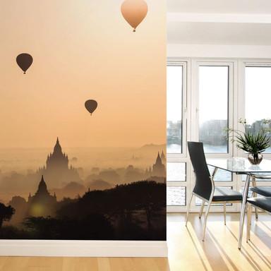 Fototapete Colombo - Der Morgen über Bagan - 192x260cm - Bild 1