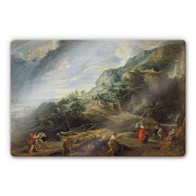 Glasbild Rubens - Odysseus auf der Insel Feaci