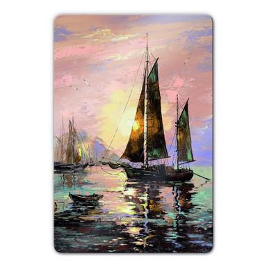 Glasbild Sailing Boat