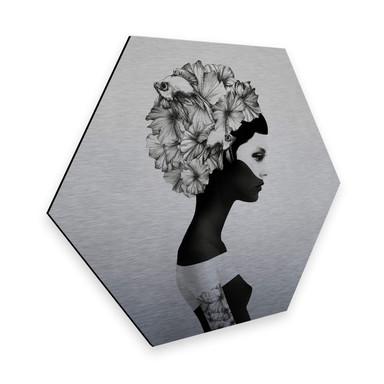 Hexagon - Alu-Dibond-Silbereffekt - Ireland - Marianna