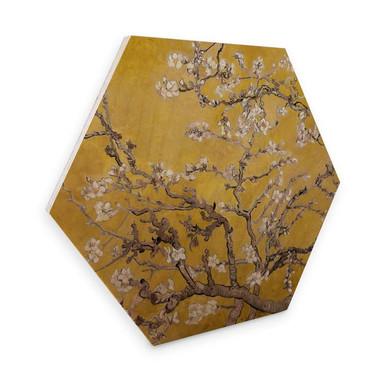 Hexagon - Holz van Gogh - Mandelblüte Ocker