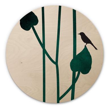Holzbild Kubistika - Natura - Rund