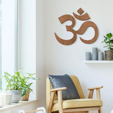 Holzdeko Mahagoni - Om Zeichen