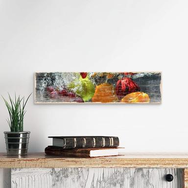 Holzschild Erfrischendes Obst