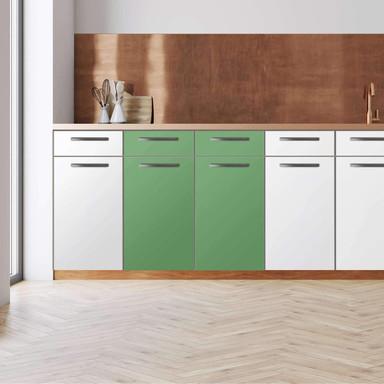 Küchenfolie - Unterschrank 80cm Breite - Grün Light