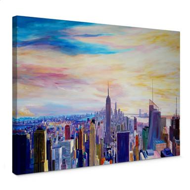 Leinwandbild Bleichner - Blick über New York City