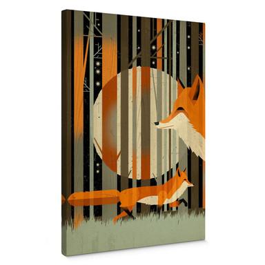 Leinwandbild Braun - Midnight Foxes