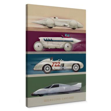 Leinwandbild Braun - Record Cars