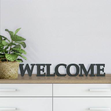 MDF-Holzbuchstaben Welcome