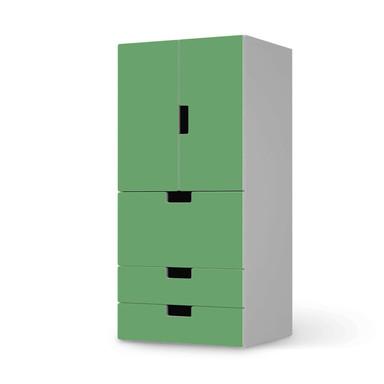 Möbelfolie IKEA Stuva / Malad - 3 Schubladen und 2 kleine Türen - Grün Light