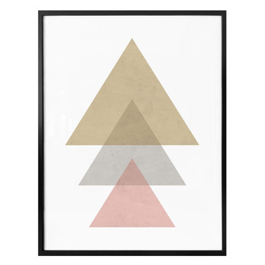 Poster Nouveauprints - Triangles pink