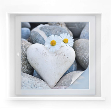 Sichtschutzfolie Liebesblumen - quadratisch