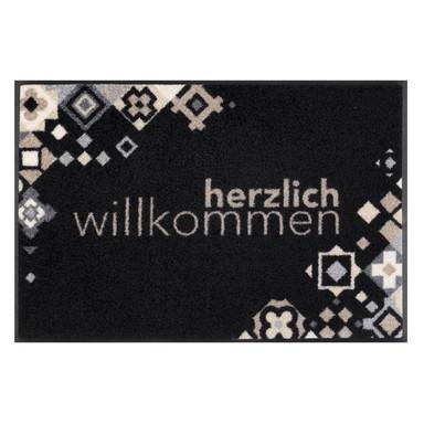 Wash&Dry Fussmatte Willkommen Mosaik 50x75cm