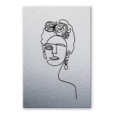Alu-Dibond-Silbereffekt Hariri - Frida Kahlo