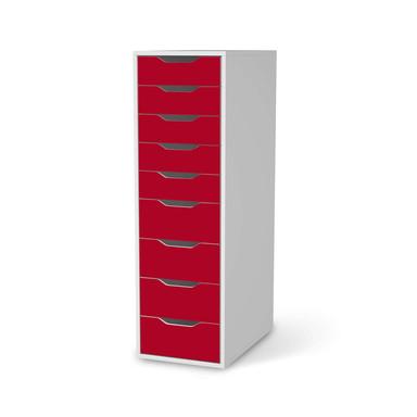 Folie IKEA Alex 9 Schubladen - Rot Dark- Bild 1
