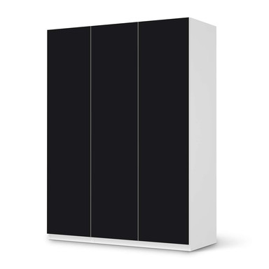 Folie IKEA Pax Schrank 201cm Höhe - 3 Türen - Schwarz