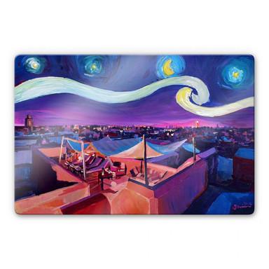 Glasbild Bleichner - Marrakesch bei Nacht