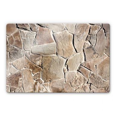 Glasbild Mediterrane Mauer