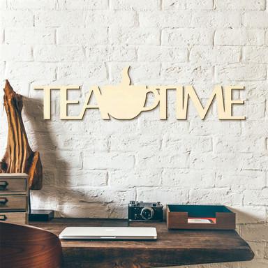 Holzbuchstaben Tea Time